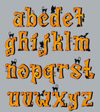 Spooky Halloween Font Uppercase Letters Stock Photography