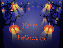 Spooky Halloween Forest Royalty Free Stock Photos