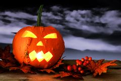 Spooky Halloween Jack o Lantern Royalty Free Stock Images