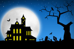 Spooky Halloween night Royalty Free Stock Photography