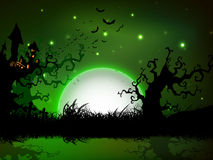 Spooky Halloween night background. Stock Image