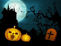 Spooky Halloween night background Stock Photos