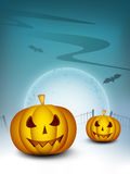 Spooky Halloween night background Stock Image