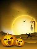 Spooky Halloween night background Royalty Free Stock Images