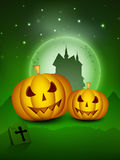 Spooky Halloween night background Stock Photography