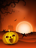 Spooky Halloween night background Royalty Free Stock Photography