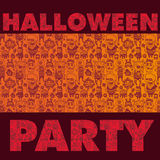 Spooky Halloween Party background Stock Images