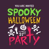 Spooky Halloween party stock illustration