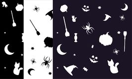Spooky halloween patterns Stock Image