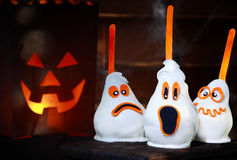 Spooky Halloween pears stock image