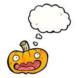 Spooky halloween pumpkin cartoon Stock Photography