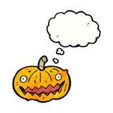 Spooky halloween pumpkin cartoon Royalty Free Stock Photos
