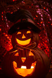 Spooky halloween pumpkin Royalty Free Stock Image