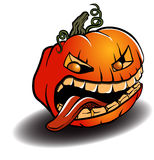 Spooky Halloween Pumpkin Stock Photography