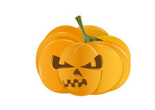 Spooky halloween pumpkin isolated Royalty Free Stock Photography