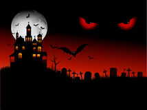 Spooky halloween scene. With evil eyes Stock Image
