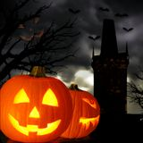 Spooky Halloween scene Royalty Free Stock Photos