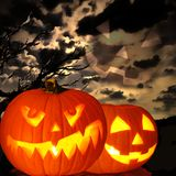 Spooky Halloween scene Royalty Free Stock Images