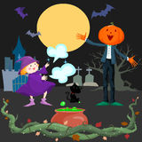 Spooky Halloween scene Royalty Free Stock Photography