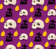 Spooky halloween seamless pattern Stock Image