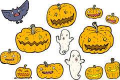Spooky Halloween set Stock Photo