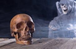 Spooky Halloween Skull Stock Image