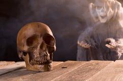 Spooky Halloween Skull Royalty Free Stock Photography