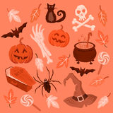Spooky Halloween Symbols Stock Photos
