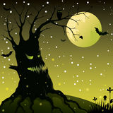 Spooky Halloween tree Royalty Free Stock Photo