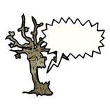 Spooky halloween tree cartoon Stock Image