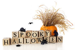 Spooky Halloween Wishes Royalty Free Stock Photography