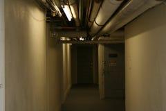 Spooky Hallway. An eery hallway in a basement Royalty Free Stock Photos