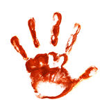 Spooky hand prints Stock Image