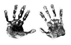 Spooky hands print Royalty Free Stock Image