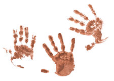 Spooky hands prints Stock Image