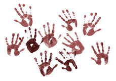 Spooky hands prints Royalty Free Stock Photo