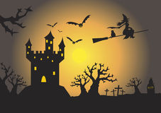 Spooky haunted house Stock Image