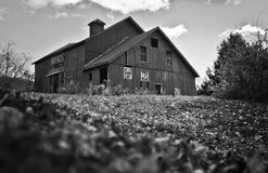 Spooky house. Spooky old house in black and white Stock Images