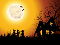 Spooky house illustration Stock Photo