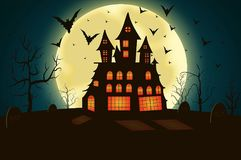 Spooky house Stock Images
