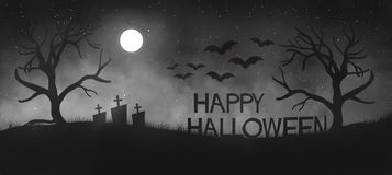 Spooky illustration for halloween invitation /poster/flyer stock photography