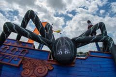 Free Spooky Inflatable Spider In Halloween Spooktacular At Seaworld 2. Royalty Free Stock Image - 160666006