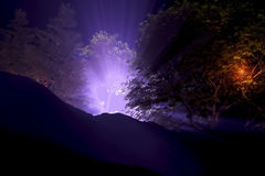 Spooky lights at Night Stock Photography