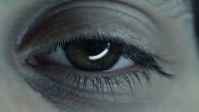 Spooky Macro Of An Eye stock video