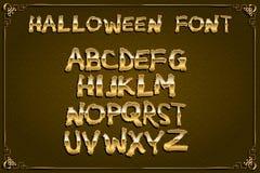 Spooky and Magical Alphabet Set. Halloween font Stock Photos
