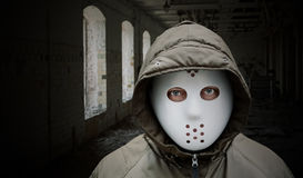 Spooky man with mask Royalty Free Stock Image