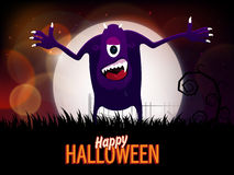 Spooky monster for Happy Halloween Party. Stock Photo
