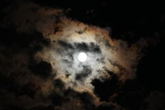 Spooky Moon Stock Image