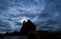 Spooky moonlit church Stock Image