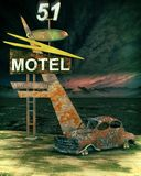 Spooky motel scene Stock Images